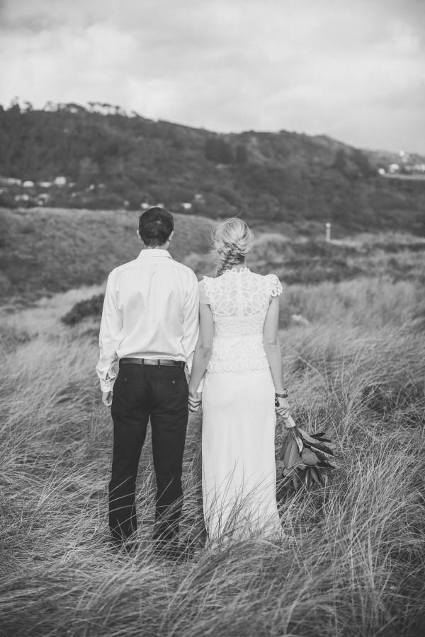 Murawai Shoot with bride & groom